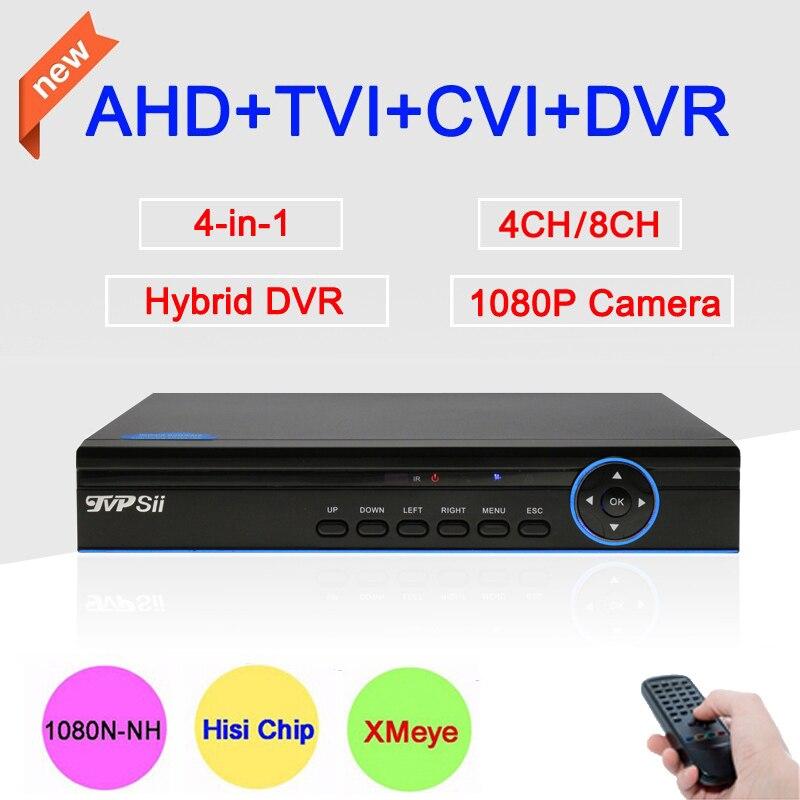 Blue-Ray Metal Case DVR 4CH 1080P/960P/720P/960H XMeye APP Coaxial  4 in 1 Hybrid Coaxial AHD TVI CVI DVR Free Shipping<br>