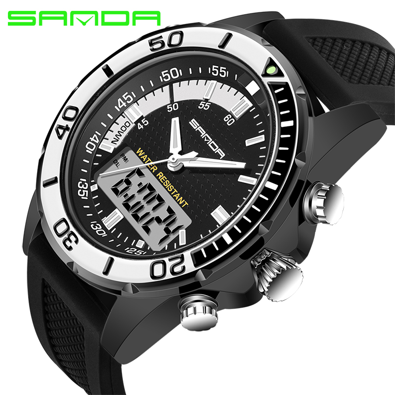 SANDA Mens Fashion Military Outdoor Sport Digital Watches Cool Rubber Strap Men Quartz-watches Male Watches Relogio Masculino<br><br>Aliexpress
