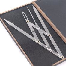 1set Microblading Permanent Makeup Stainess Steel Eyebrow Calipers Stencil Golden Ratio Measure Ruler Tattoo Accessory Cosmetics(China)