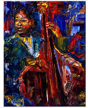 jazz Modern Contemporary Original Abstract Art Canvas African American Art JAZZ SAXOPHONIST No.04(China)
