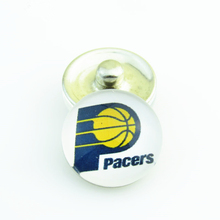 Fashion Basketball NBA Indiana Pacers Snap Button Sports Charms for DIY 18mm Snap Bracelet Jewelry 20pcs/lot