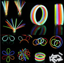 (100pcs/lot) Glow stick,LED light stick Fluorescence flash stick multicolor lightstick rave party concert halloween decoration