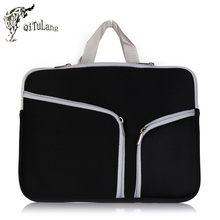 QiTuLang Laptop bag For Apple Macbook air Portable Shoulder Notebook Case For Mac pro 11 12 13.3 15 15.6 inch computer bags