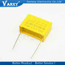 10pcs capacitor X2 capacitor 275VAC Pitch 22.5mm X2 275V Polypropylene film capacitor 1uF