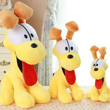 Garfield Plush Toy With Cute Cartoon Pluto Dog Doll Lovely Toys Sitting Stuffed Animals For Kids Babys Children GiftsMR177(China)