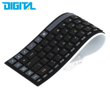 Mini Wireless Bluetooth Keyboard Roll Soft Silicone Water Resistant Flexible Keyboard for iPhone iPad Tablet Laptop Android(China)