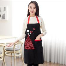 Fashion Sleeveless Apron Woman and Butterfly Pattern Housewife Home Kitchen Cleaning Apron Waterproof Cooking Aprons Hot Sell