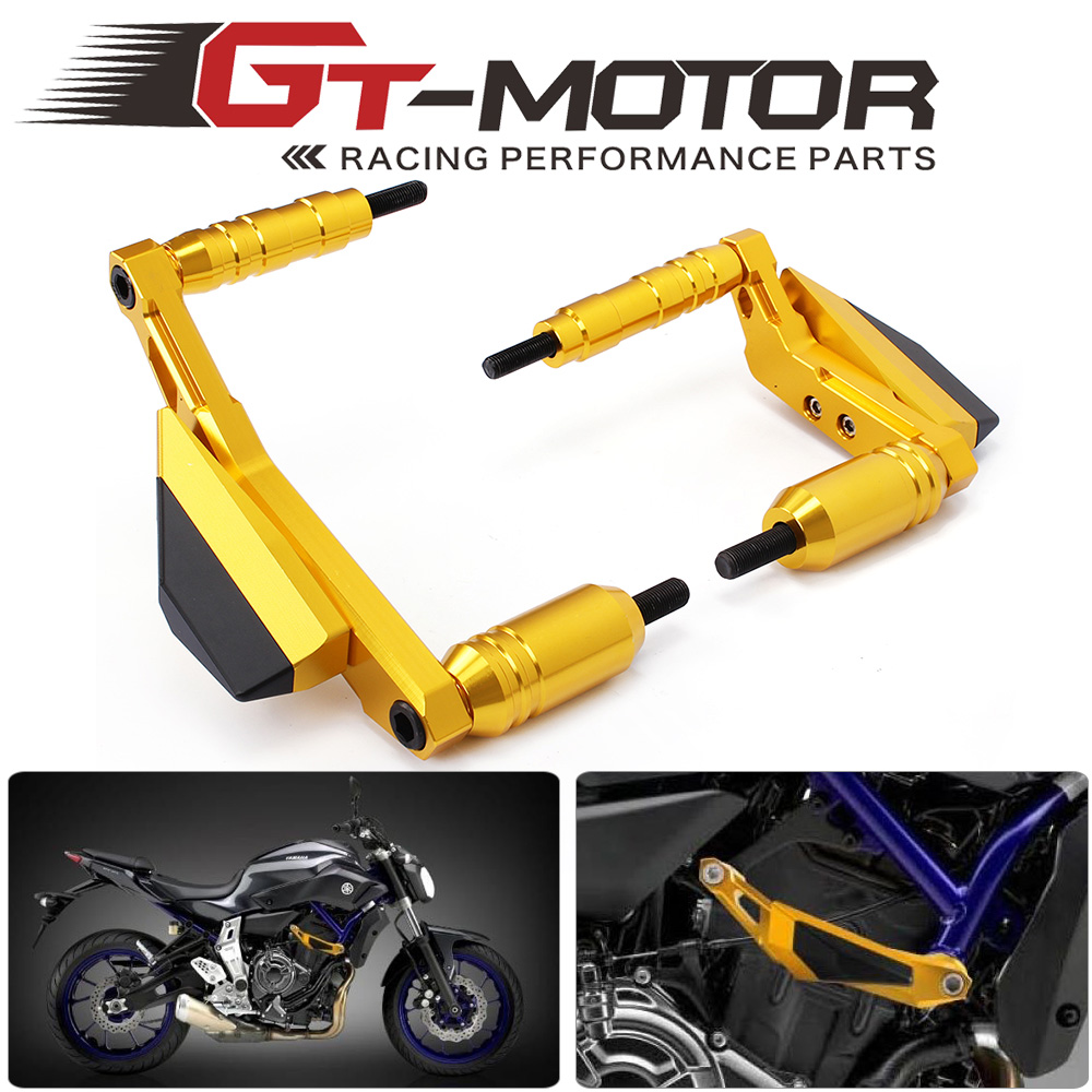 GT Motor-Motorcycle CNC Crash Pads Frame Slider Protector Falling Protection Engine cover For Yamaha MT07 MT-07  2014 2015 2016<br>