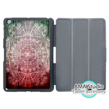 Green Red Nebula Mandala Stand Folio Smart Cover Case For Apple iPad Mini 1 2 3 4 Air Pro 9.7
