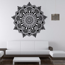 2017 New wall stickers Mandala Flower pattern Indian Bedroom Wall Decal art wall stickers Mural Home bedroom decor accessories(China)