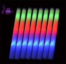 100pcs/lot Flash toy multi color flash light toy led foam stick led foam baton glow stick for wedding party concert props