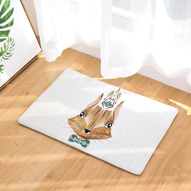 fd918eb054c64 Flannel Floor Mats Magical Animals Printed Bedroom Living Room Carpets  Cartoon Bear Pattern Mat for Hallway Anti-Slip Tapete - us100