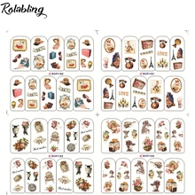 Rolabling Retro minion women water transfer nail sticker for minion nail stickers on nail art water decals nail sticker vintage