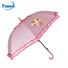 Free Shipping Lace Lotus Leaf Girl's Umbrella Candy Color Anti-UV Student Umbrella Automatic Kids Sunny and Rainy Umbrella(China)