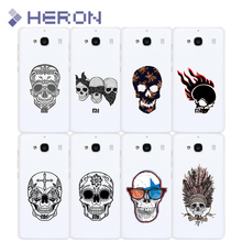 Soft Super Thin TPU Skull series Case For Xiaomi Redmi 2 3 3X 4 4A note 2 note 3 Note 4 Pro Transparent PhoneCase Back Cover Bag
