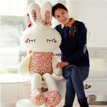 Super! 1.2m Floral Rabbit plush toy large rabbit doll love bunny Marry Christmas gift girl's gifts free shipping
