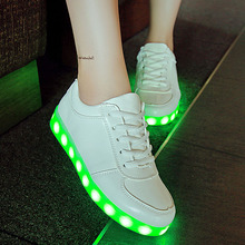 glowing sneakers USB Charging Led shoes Feminino Basket Light Up Trainers Kid Casual Boy&Girl Luminous Sneakers children shoes