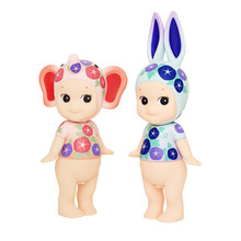 Sonny Angel 2pcs/set Artist Collection Nippon Asagao Rabbit & Elephant Doll PVC Action Figure Collectible Toy 12-15cm