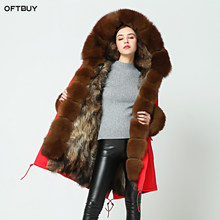 OFTBUY parka 2019 long parkas new winter jacket women fur coat real fox fur collar natural fox fur inside warm thick outwear(China)