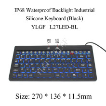 YLGF L27LED-BL IP68, waterproof keyboard, industrial keyboard, silicone, mute, light, backlight, dust, embedded,LED backlight(China)