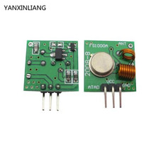 Buy 1Lot= 5 pair, 10pcs 433Mhz RF transmitter receiver Module link kit Arduino/ARM/MCU WL diy 433mhz wireless free shiping for $4.80 in AliExpress store