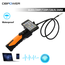 HD 720P Wireless WIFI 802.11b/g/n Endoscope Video Inspection Snake Camera 1M 1.0Mega Pixels 6 LED 2.4GHZ Video Borescope Android
