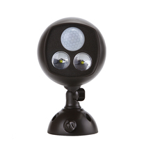 New Black High Power 2LED Anti-theft Waterproof Anti-rust Hot Sensor Lamp Light for Bedroom, Baby room, Corridor, Staircase(China)