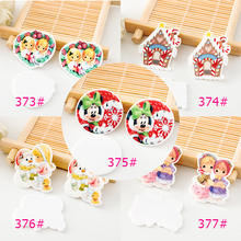 kawaii Cartoon Merry Christmas Figurine holiday decoration crafts flat back planar resin DIY phone hair Bow accessories