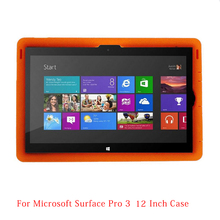 MingShore For Surface Pro 3 Tablet PC Silicone Case Pro 3 12.0 Rugged Kids' Silicone Cover For Surface Pro 3 12.0inch Tablet(China)