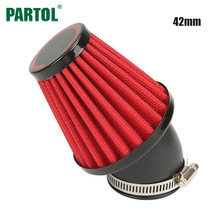 Partol Motorcycle Air Filter 42mm 45 Degree Motorbike Air Intake Filter Clearner For Suzuki GS1000 1000L GS750 Kawasaki KZ1000A(China)