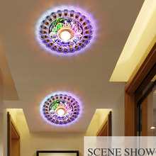 Home Crystal LED Light Lighting Peacock Ceiling Fixture Chandelier Lamp Decor(China)