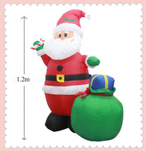 Christmas Inflatable Santa Claus With Gift Bag Yard Garden Decoration 4 feet