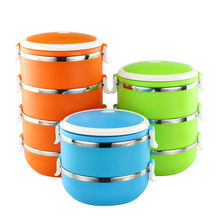 Size:9CM*15CM/1 layer 4 styles Candy colors New Portable Microwave Lunch Box Food Container Storage Box hot sale