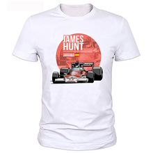 2017 New Summer Men Plus Size Clothing Casual F1 Car Styling James Hunt Printed T Shirt Fashion Novelty Short Sleeve Tee Tops(China)