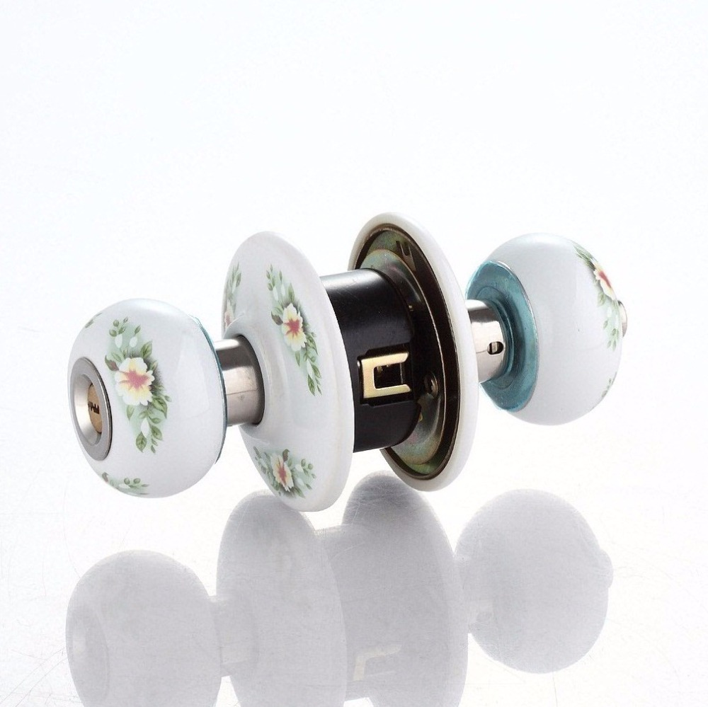Manufacturer direct selling star ceramic door lock bedroom european-style circular lock room door lock wholesale<br>