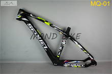 2016 hot sell 27.5-inch T1000 full carbon MTB bike frame carbon frame finish matte/glossy,size15.5/17.5/19.5,cube