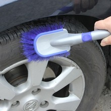Multi-Functional Car Tyre Cleaning Brush Wheel Hub Washing Tool Anti-Slip Soft Handle Long Type Automobile Cleaner Accessories(China)