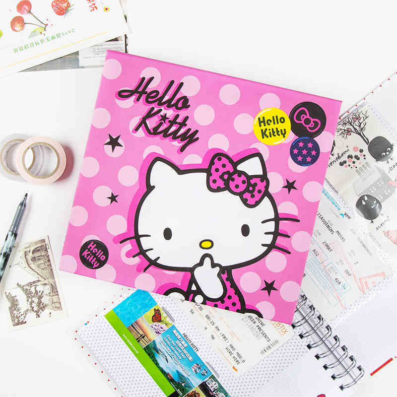 Memorable Moments Movie Ticket Consert Ticket Plane Ticket Bills DIY  Collection Book Cute Hello Kitty Cute Scrapbooking Book <br><br>Aliexpress