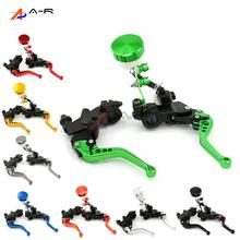 "7/8"" 22MM CNC Clutch Brake Master Cylinder Hydraulic Reservoir Levers for Kawasaki Z 750/750R/750S/1000 ZR 1200/7S ZZR 600/1200"