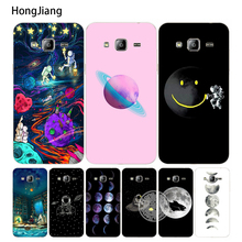 HongJiang Space Love Moon Astronaut cover phone case for Samsung Galaxy J1 J2 J3 J5 J7 MINI ACE 2016 2015(China)