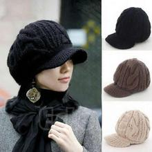 Winter Fashion Korean Women's Crochet Ski Beanie Winter Warm Wool Knit Peaked Hat Cap