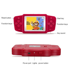 Mini Video Game Console Electronic Handheld Retro Brick Game Consola De Jeu 268 games 2.5'' Games Player 1020mAh lithium battery(China)