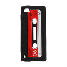 Slim Cassette Tape Silicone Case Cover for iPod Touch 5 5th Gen 14 Colors Silicon Sofe Cover Free shipping(China)