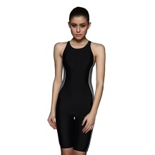 Quick Drying Swimwear Women Back Charming Competition Swimsuit Body Suits Long Shorts Bathing suit L-3X