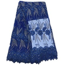Special offer African lace with stones embroidery textile lace fabric African french lace fabric high quality  f16122661