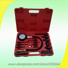 Diesel Engine Compression Tester Kit / cylinder pressure meter for diesel truck TU-15B(China)