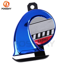 POSSBAY Brand 110DB DC12V 510Hz Motorcycle Horn Snail Type Powerful Sound Blue ATV E-Bike Warning Loud Voice Speaker Dust Cap(China)