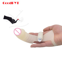 Fingertip Orgasm G Spot Stimulator Two Finger Sleeve Vibrator Sex Toy For Couples/Lesbian Sex Machine Simulate Penis Massager