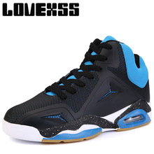LOVEXSS Fall2017 Ankle Boots Basketball Shoes For Men High Elastic Sport Shoes Man Brand Outdoor Athletic Men's Sneakers(China)