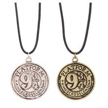 Accessories Selling Harry Potter Film Series Platform Retro Coin Pattern Of Three-fourths Rope Necklace Pendants, Wholesale